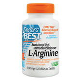 Buy L-Arginine 500 mg 120 Bilayer Tabs Doctor's Best Online, UK Delivery, Amino Acid