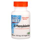 Buy Best D-Phenylalanine 500 mg 60 Veggie Caps Doctor's Best Online, UK Delivery, Amino Acid