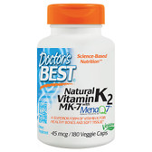 Buy Natural Vitamin K2 Mena Q7 45 mcg 180 Veggie Caps Doctor's Best Online, UK Delivery, Bone Osteo Support Formulas