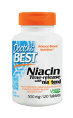 Buy Real Niacin 500 mg 120Tabs Doctor's Best Online, UK Delivery, Cardiovascular Cholesterol Balance Support Flush Free Niacin Treatment