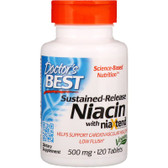 Buy Real Niacin 500 mg 120Tabs Doctor's Best Online, UK Delivery, Cardiovascular Cholesterol Balance Support