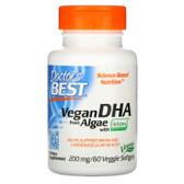 Buy Best Vegetarian DHA from Algae 200 mg 60 Veggie sGels Doctor's Best Online, UK Delivery, EFA Omega EPA DHA Vegetarian EFA