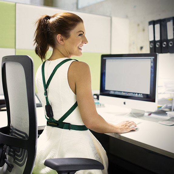 BackTone is perfect for computer users who slouch and want to change their posture.