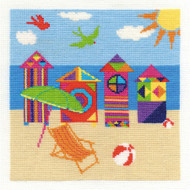DMC Bright Beach Huts Counted Cross Stitch kit