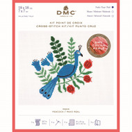 DMC Peacock Counted Cross Stitch kit