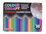 Colour Therapy Professional Colouring Pencils 30 Pack in Presentation Tin