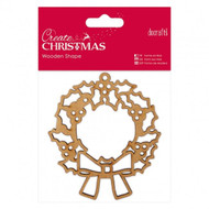 Papermania Create Christmas Wooden Shapes - Wreath by DoCrafts