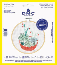 DMC Succulents Counted Cross Stitch Kit Complete with Hoop Needle Aida & Thread