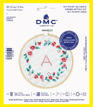 DMC Wreath Counted Cross Stitch Kit Complete with Hoop Needle Aida & Thread