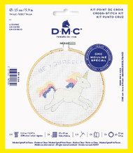 DMC Unicorn Counted Cross Stitch Kit Complete with Hoop Needle Aida & Thread