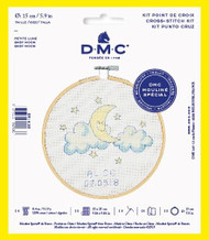 DMC Baby Moon Counted Cross Stitch Kit Complete with Hoop Needle Aida and Thread