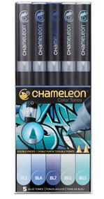 Chameleon Color Tones 5 Pen Set Alcohol Blending Gradient - Blue Colour Tones