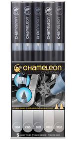 Chameleon Color Tones 5 Pen Set Alcohol Blending Gradient - Gray Colour Tones