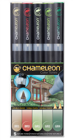 Chameleon Color Tones 5 Pen Set Alcohol Blending Gradient - Nature Colour Tones
