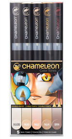 Chameleon Color Tones 5 Pen Set Alcohol Blending Gradient - Skin Colour Tones