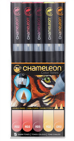 Chameleon Color Tones 5 Pen Set Alcohol Blending Gradient - Warm Colour Tones