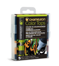 Chameleon Color Tops 5 Pen Set Alcohol Blending Gradient - Earth Colour Tones