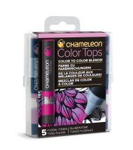 Chameleon Color Tops 5 Pen Set Alcohol Blending Gradient - Floral Colour Tones