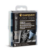 Chameleon Color Tops 5 Pen Set Alcohol Blending Gradient - Gray Colour Tones