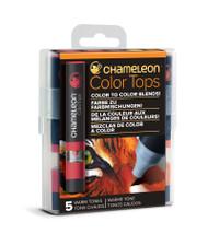Chameleon Color Tops 5 Pen Set Alcohol Blending Gradient - Warm Colour Tones