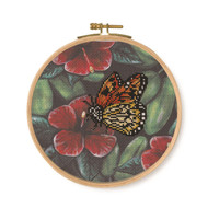 DMC Tropical Birds & Butterflies Printed Cross Stitch Kit - Orange Butterfly