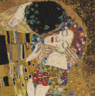 DMC Gustav Klimt Counted Cross Stitch Kit- The Kiss
