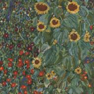DMC Gustav Klimt Counted Cross Stitch Kit - Farm Garden with Sunflowers