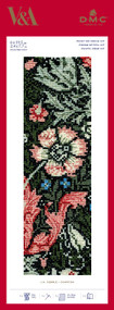 DMC Counted Cross Stitch Bookmark Kit - V&A Museum William Morris & Co Compton