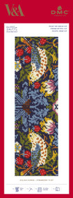DMC Counted Cross Stitch Kit V&A Museum William Morris Strawberry Thief Bookmark