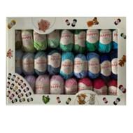Sirdar Happy Cotton DK Happy Box - 50 Happy Cotton Colours in a Happy Box