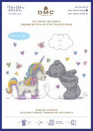 DMC Me to You Counted Cross Stitch Kit - Tatty Teddy Unicorn Kisses