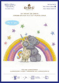 DMC Me to You Counted Cross Stitch Kit - Tatty Teddy Llamacorn Hugs