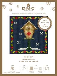 DMC Festive Christmas Mini Counted Cross Stitch Kit - Birdhouse