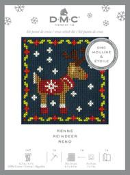 DMC Festive Christmas Mini Counted Cross Stitch Kit - Festive Puppy