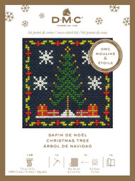 DMC Festive Christmas Mini Counted Cross Stitch Kit - Christmas Tree