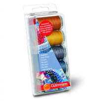 Gutermann Jeans Thread Set for Hand and Machine Use - 5 Colour Set