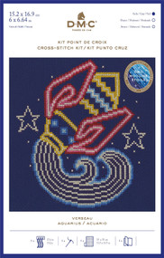 DMC Signs of the Zodiac Counted Cross Stitch Kit - Aquarius