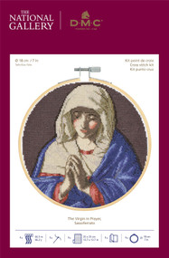 DMC - The National Gallery Cross Stitch Kit The Virgin in Prayer by Sassoferrato