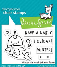 Lawn Fawn Winter Narwhal 2X3 Clear Stamp