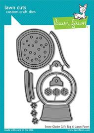 Lawn Fawn Snow Globe Gift Tag Custom Craft Dies