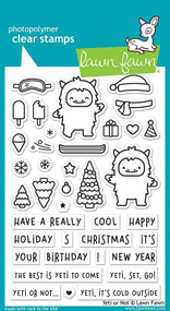 Lawn Fawn Yeti Or Not 4X6 Clear Stamp Set