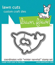 Lawn Fawn Winter Narwhal Lawn Cuts Custom Craft Dies