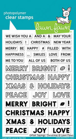 Lawn Fawn Offset Sayings: Christmas 4X6 Clear Stamp Set
