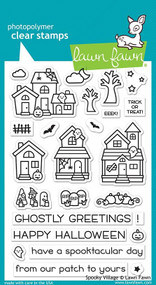 Lawn Fawn Spooky Village 4X6 Clear Stamp Set