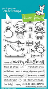 Lawn Fawn Ho-Ho-Holidays 4X6 Clear Stamp Set
