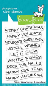 Lawn Fawn Winter Wavy Sayings 3X4 Clear Stamp Set