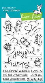 Lawn Fawn Mice On Ice 4X6 Clear Stamp Set