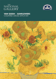 DMC - The National Gallery Vincent Van Gogh Sunflowers Counted Cross Stitch Kit