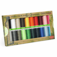 Gutermann100% Recycled Polyester Sew-all Thread 100 - 20 Basic Coloured Reels