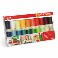 Gutermann Sew-all 100% Polyester Thread 100m Hand and Machine 20 Assorted reels